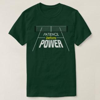 """Geduld vor Power"" Pickleball Shirt"