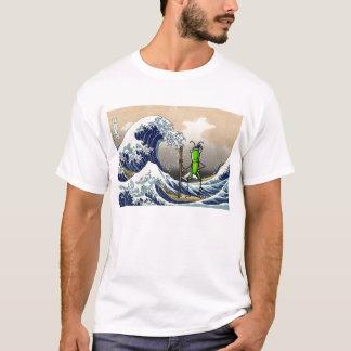 Gedulds-Heuschrecke auf einem Boot T-Shirt
