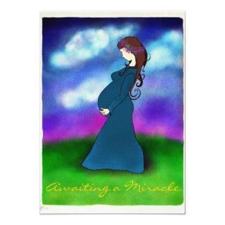 """""""Gedulds-"""" Schwangerschafts-Mitteilungs-Karte 12,7 X 17,8 Cm Einladungskarte"""