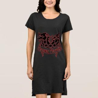 Gedungenes kaufmännisches Logo T-Shirt Kleid