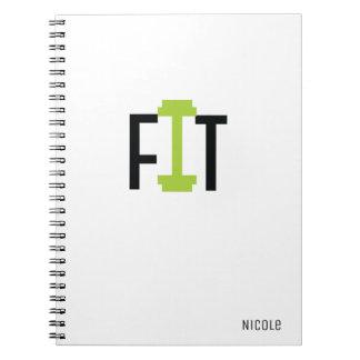 GEEIGNETE Workout-Fitness-kundenspezifische Spiral Notizblock