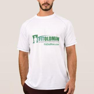 Geeignetes alter Mann-kurzes Hülseworkout-T-Stück T-Shirt