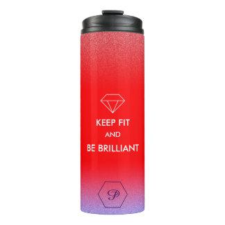 Geeignetes Zitat der eleganten roten Thermosbecher