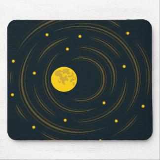 Geek-abstrakte Sterne und Mond Mauspad