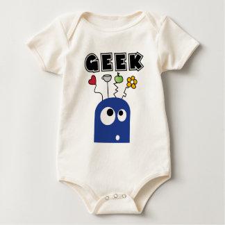 geek blau baby strampler