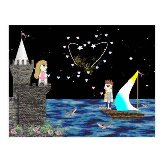 Geek-Liebe-alte Spiel-Schule Postkarte