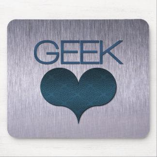 Geek-Liebe (Herz) Mousepad, dunkelblau Mauspad