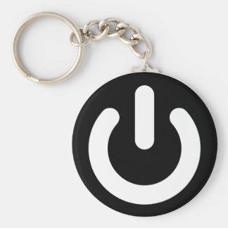 Geek-Power-Ideologie Standard Runder Schlüsselanhänger