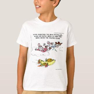 Geeks-oben genanntes Früchte getragenes Flugzeug T-Shirt