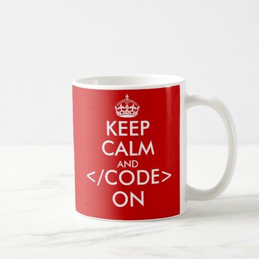 Geeky behalten Sie Ruhe und Code auf Tasse für Pro