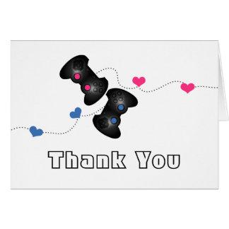 Geeky Gamer danken Ihnen, Dunkelheit (Blau/Rosa) Mitteilungskarte