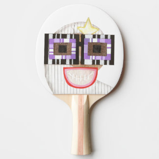 Geeky Mond-Klingeln Pong Schläger Tischtennis Schläger