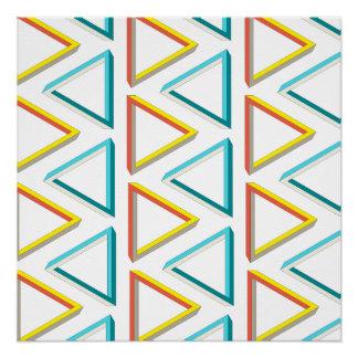Geeky Muster der unmöglichen Dreiecke Poster
