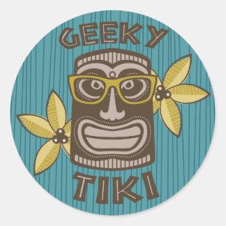 Geeky Tiki Runder Aufkleber