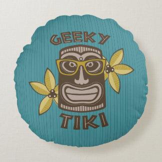 Geeky Tiki Rundes Kissen