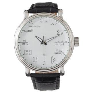 geeky und nerdy Matheformelgleichungen Uhren