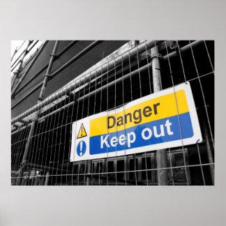 Gefahr behalten heraus Zeichenplakat Poster