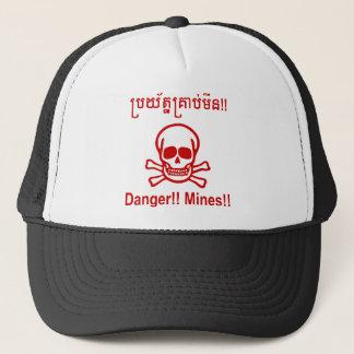 Gefahr!! Bergwerke!! ☠ kambodschanisches Truckerkappe
