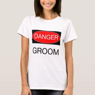 Gefahr - Bräutigam-lustige Hochzeits-T - T-Shirt