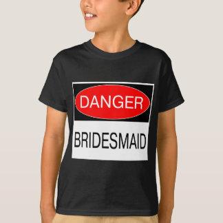 Gefahr - Brautjungfern-lustiger Hochzeits-T - T-shirt