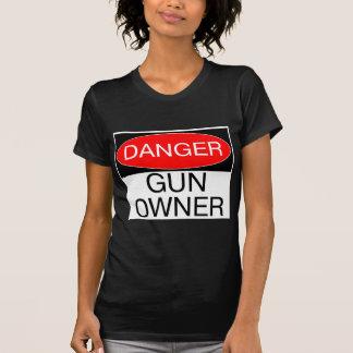 Gefahr - Gewehr-Inhaber-lustige T - Shirt-Tassen-H Hemd