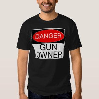Gefahr - Gewehr-Inhaber-lustige T - T-Shirts