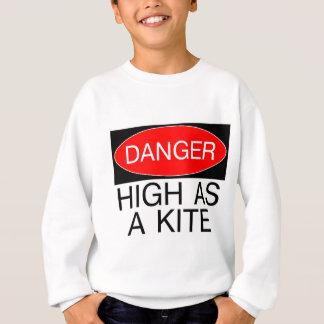 Gefahr - hoch als Drachen-lustige Sicherheits-T - Sweatshirt