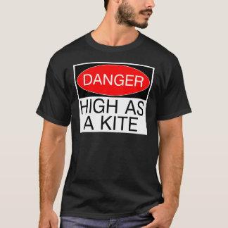 Gefahr - hoch als Drachen-lustige Sicherheits-T - T-Shirt