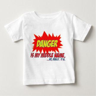 Gefahr ist mein zweiter Vorname Baby T-shirt