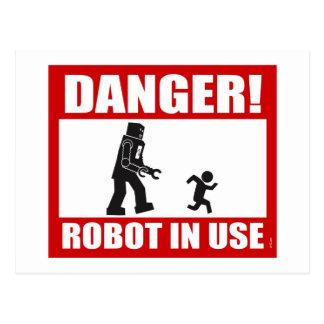 Gefahr! Roboter-gebräuchliche Postkarte