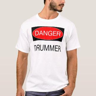 Gefahr - Schlagzeuger-lustige Musiker-T - T-Shirt
