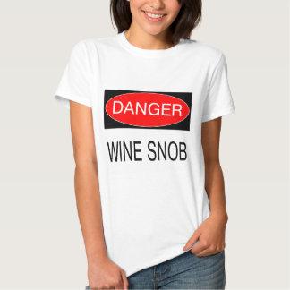 Gefahr - Wein-Snoblustiger Oenophile-T - Shirts