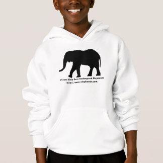 Gefährdete Elefanten Hanes scherzt Hoodie