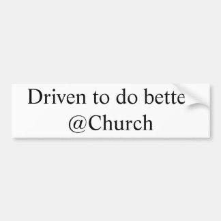 Gefahren, um besseren @Church Aufkleber zu tun Autoaufkleber