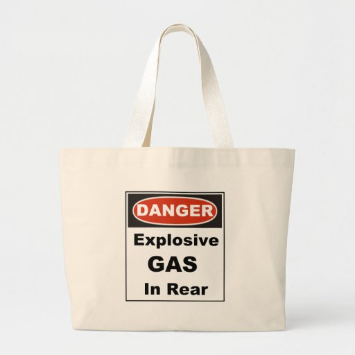 Gefahrenexplosives Gas in der Rückseite Tasche