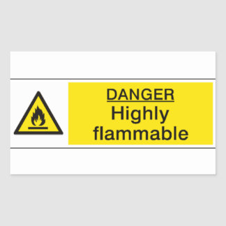 Gefahrenin hohem grade brennbarer Aufkleber
