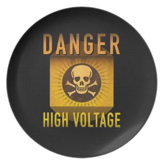 GefahrenRetro Atomzeitalter-HochspannungsSchmutz: Melaminteller
