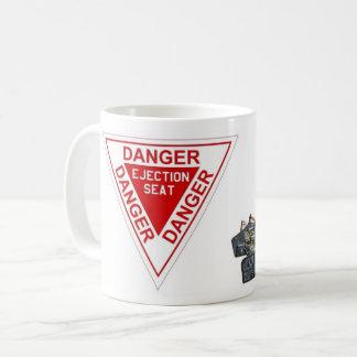 Gefahrenschleudersitz-Zeichen Kaffeetasse
