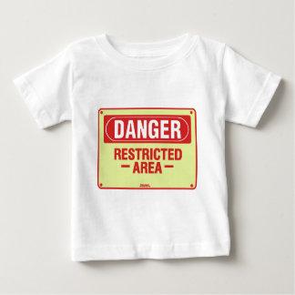Gefahrenzeichen-Entwurf! Einzigartiger cooler Baby T-shirt