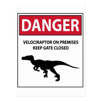 Gefahrenzeichen (Raubvögel) Postkarte