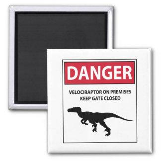 Gefahrenzeichen (Raubvögel) Quadratischer Magnet
