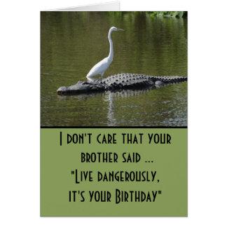Gefährlich leben Geburtstag Karte