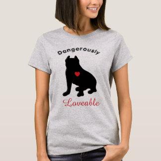 Gefährlich liebenswürdige Pitbull Silhouette T-Shirt