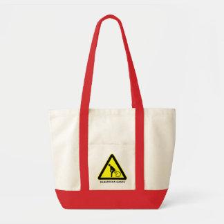Gefährliche Gas-Warnzeichen-Tasche