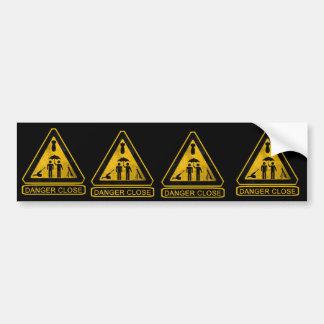 Gefahrn13f nahe FAUST Autoaufkleber