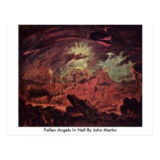 Gefallene Engel in der Hölle durch John Martin Postkarte