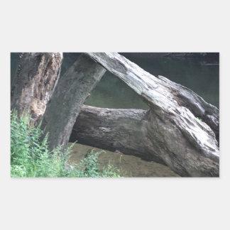 Gefallener Baum Rechteckiger Aufkleber