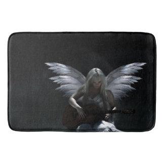 Gefallener Engel - dunkle Gitarre Badematte