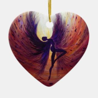 Gefallener Engel - zeitgenössische Malerei Keramik Ornament