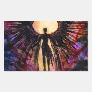 Gefallener Engel - zeitgenössische Malerei Rechteckiger Aufkleber